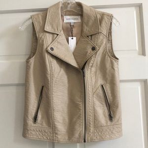 Tan leather vest